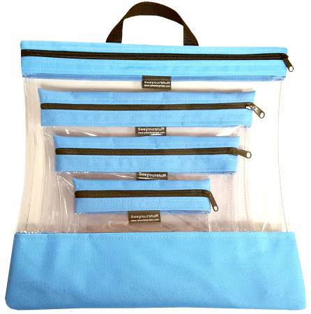 See Your Stuff 4pc Lt Blue Bag Set