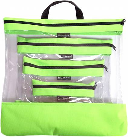 See Your Stuff 4pc Lime Bag Set