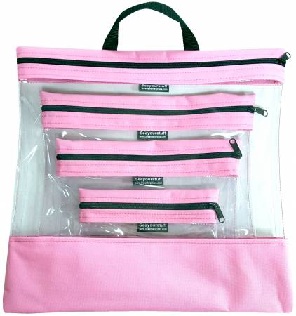 See Your Stuff 4pc Pink Bag Set