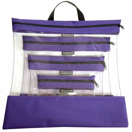 See Your Stuff 4pc Purple Bag Set
