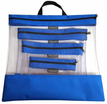 See Your Stuff 4pc Royal Bag Set