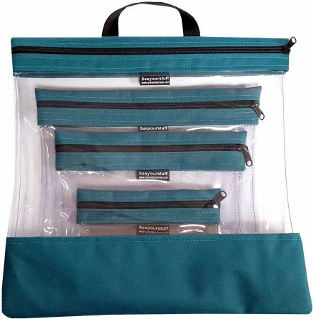 See Your Stuff 4pc Teal Bag Set