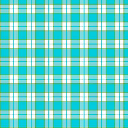 Tea Towel - Turquoise  Plaid