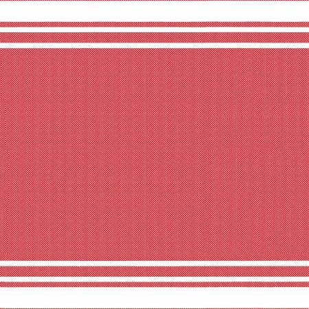 Red Border Stripe 20x27in Towel
