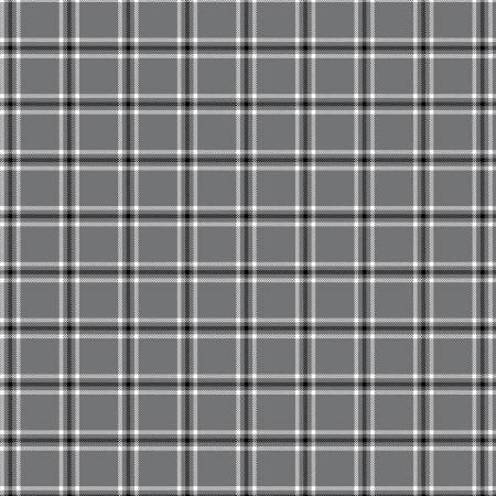 Tea Towel  - Grey Windowpane Plaid