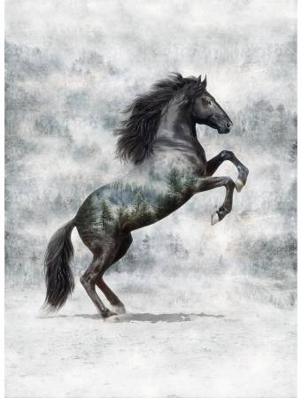 Call of the Wild Horse 32in x 43in