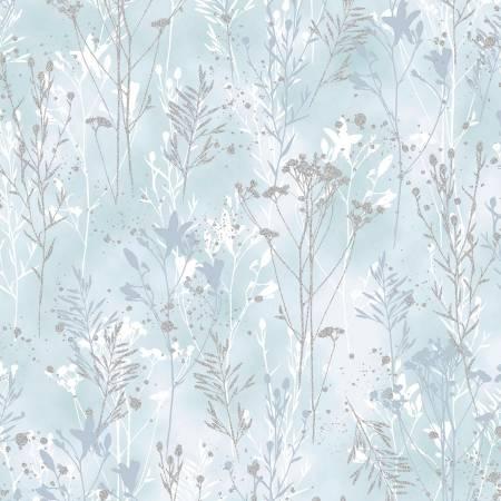 Perch - Ice Blue Trees w/Silver Metallic