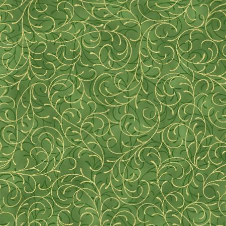 Leaf Scroll w/Gold Metallic T7753 178