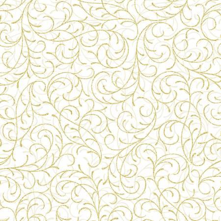 Hoffman Natural Scroll w/ Gold Metallic T7753-20G