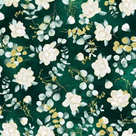 Home Sweet Home - Juniper Flowers w/Gold Metallic