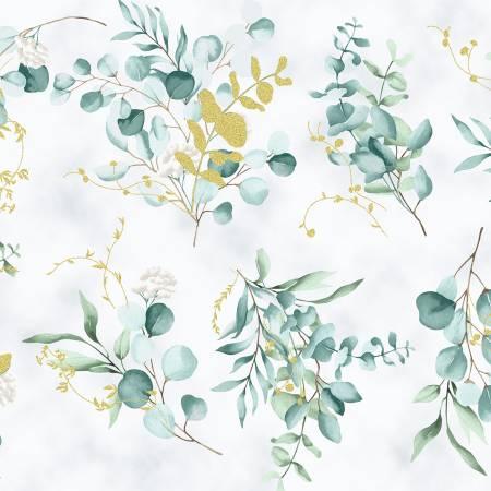 Home Sweet Home - Eucalyptus Leaves w/Gold Metallic
