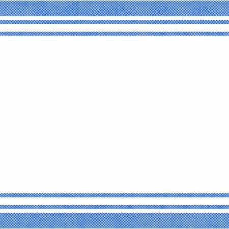 White/Blue Border Stripe 20x27in Towel