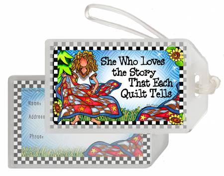 Quilt Story Luggage Tag