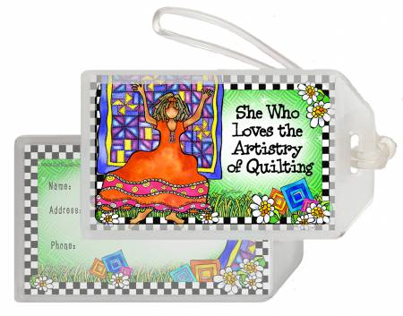 Quilt Artistry Luggage Tag