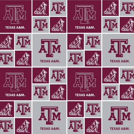 Texas A&M Squares Licensed Fat Quarter