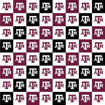 Sykel -NCAA Texas A&M Squares Digitally Printed