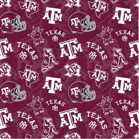 NCAA Texas A&M Tone on Tone Cotton
