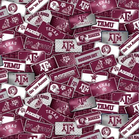 Sykel - NCAA-Texas A&M Aggies License Plate Cotton