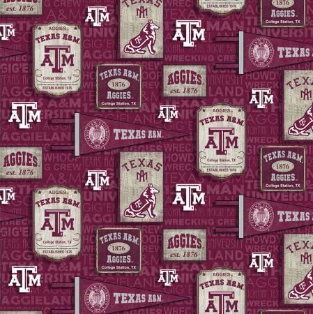 Sykel - NCAA-Texas A&M Aggies Vintage Pennant Cotton