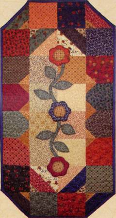 Little Scraps Days Gone  By Table Runner Pattern  - 16 1/2 X 32 1/2