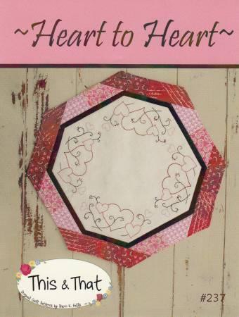 Little Scraps - Heart to Heart Candle Mat