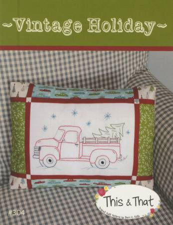 Vintage Holiday Pillow Pattern