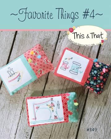Favorite Things #4 Pincushions Pattern