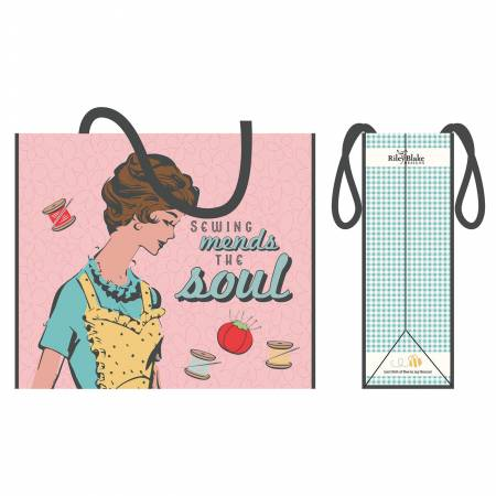 Sewing Mends The Soul Pink Tote Bag