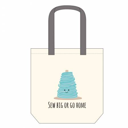 Sew Big or Go Home Canvas Tote Bag 14-1/2in x 16in