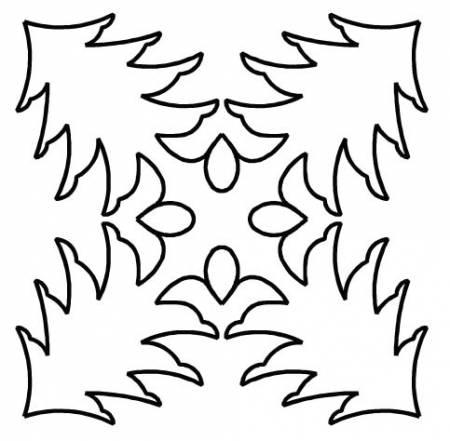 Quilt Stencil Pine Tree 11 1/2