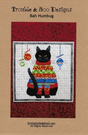 Bah Humbug Quilted Wallhanging Pattern by Trouble & Boo Designs
