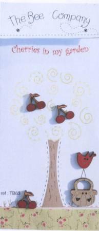 Cherries In My Garden Wooden Button Set