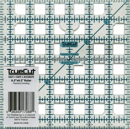 TrueCut Ruler 6-1/2in Square