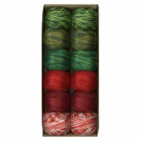 Valdani Pearl Cotton Ball Sz12 109yd Two at Christmas