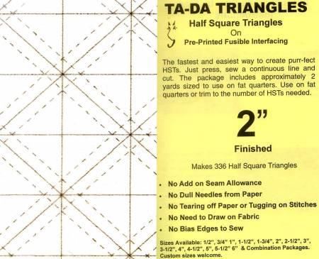 Ta-Da Fusible Interfacing Triangles Half Square 2in