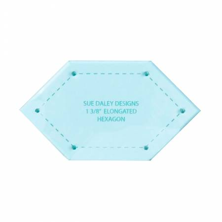 1-3/8in Elongated Hexagon Acrylic Template
