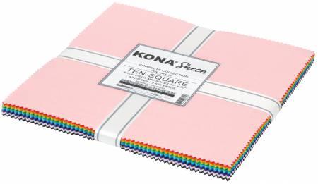 Kona Sheen - Layer Cake Bundle 42pc/bundle *Metallic* - By Robert Kaufman Fabrics