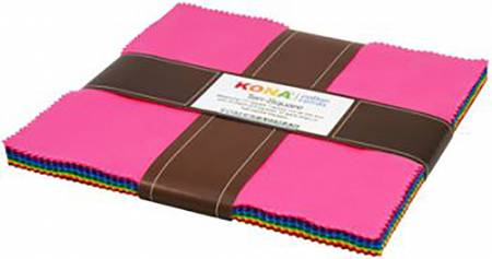 10in Squares Kona Solids Classic Colorway 42pcs
