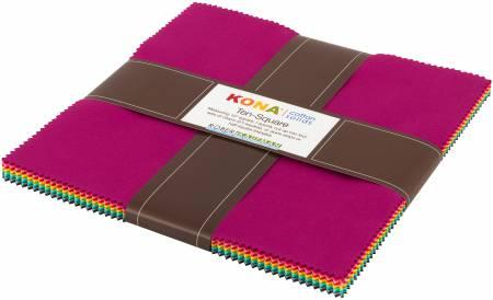 10in Squares Palm Canyon Kona Cotton Solids 42pcs/bundle