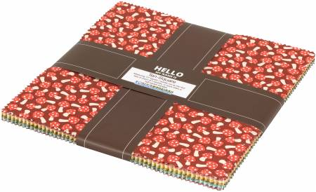 10in Squares Berry Season, 42pcs/bundle