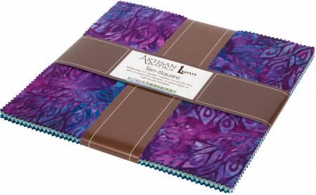 10in Squares Fancy Feathers Batik, 42pcs/bundle