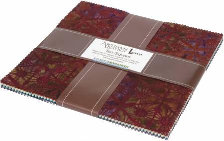 10in Squares Desertscapes Batik, 42pcs/bundle
