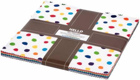 Dot & Stripe Delight - Ten Squares