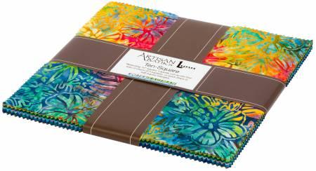 10in Squares Totally Tropical Batik, 42pcs/bundle