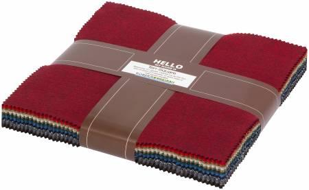 10'  Squares Shetland Flannel, 42pcs/bundle