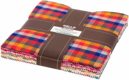 10in Squares Mammoth Junior Flannel, Warm, 42pcs/bundle