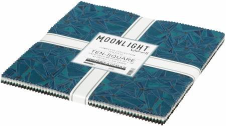 10in Squares Moonlight, 42pcs/bundle