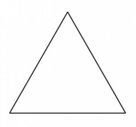 1-1/2in Equilateral Triangle Template