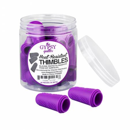 The Gypsy Quilter 3 Heat Resistant Thimbles Purple