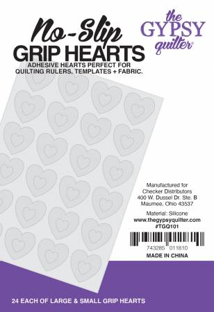 No-Slip Grip Hearts - 24 each small & large - The Gypsy Quilter